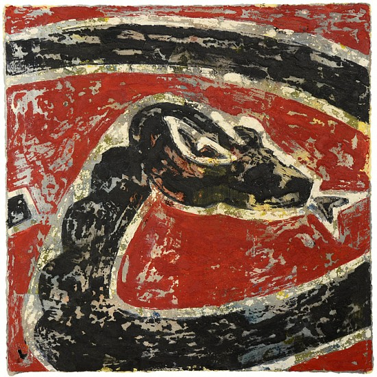 Rainer Gross, Diamond Backs 2012, Oil and pigment on paper