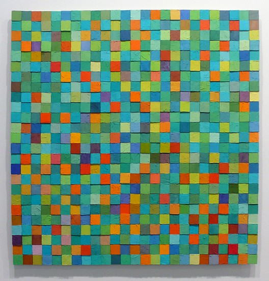 Carlos Estrada-Vega, Ritters St.'s Lady 2007, Oleopasto, wax, pigment, oil & limestone on canvas