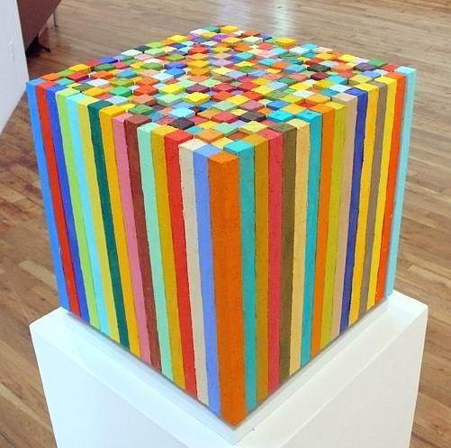 Carlos Estrada-Vega, Carlitos 2008, Oleopasto, wax, pigment, oil & limestone on canvas, wood & steel core