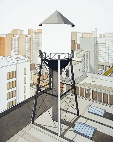 William Steiger, Watertower Outside Studio 2013, Oil on linen