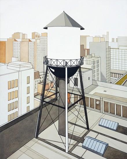 William Steiger, Watertower Outside Studio 2013, Oil on linen