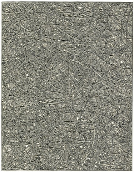 Adam Fowler, Untitled (6 Layers) 2005, Graphite on paper, hand cut