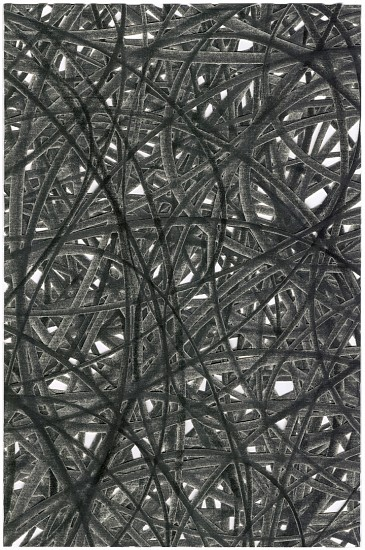 Adam Fowler, Untitled (4 layers) 2007, Graphite on paper, hand cut