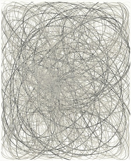 Adam Fowler, Untitled (4 Layers) 2012, Graphite on paper, hand cut