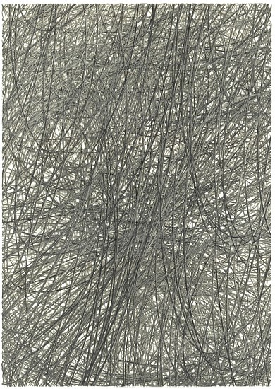 Adam Fowler, Untitled (7 Layers) 2013, Graphite on paper, hand cut