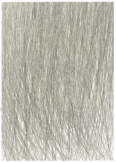 Adam Fowler, Untitled (4 Layers) 2013, Graphite on paper, hand cut