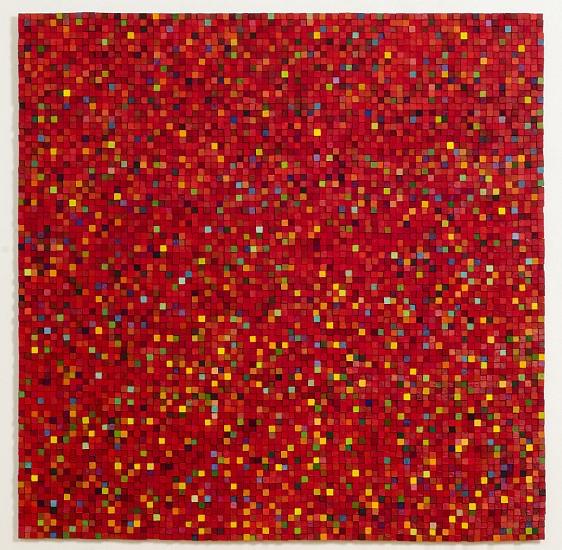 Carlos Estrada-Vega, Africa's Sorrow 2011, Wax, limestone dust, oil, olepasto, pigments on wood
