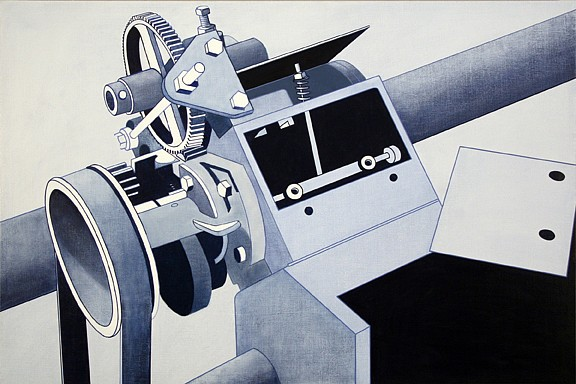 William Steiger, Blue Machine 2008, Oil on linen