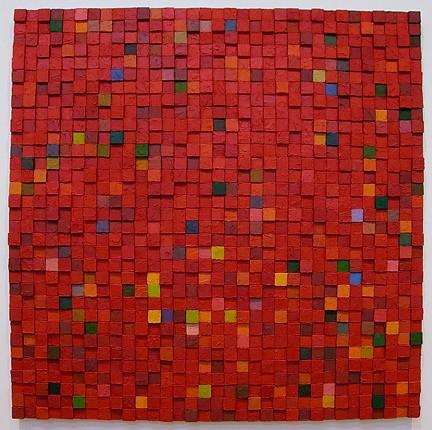 Carlos Estrada-Vega, Damiano 2005, Oleopasto, wax, pigment, oil & limestone on canvas