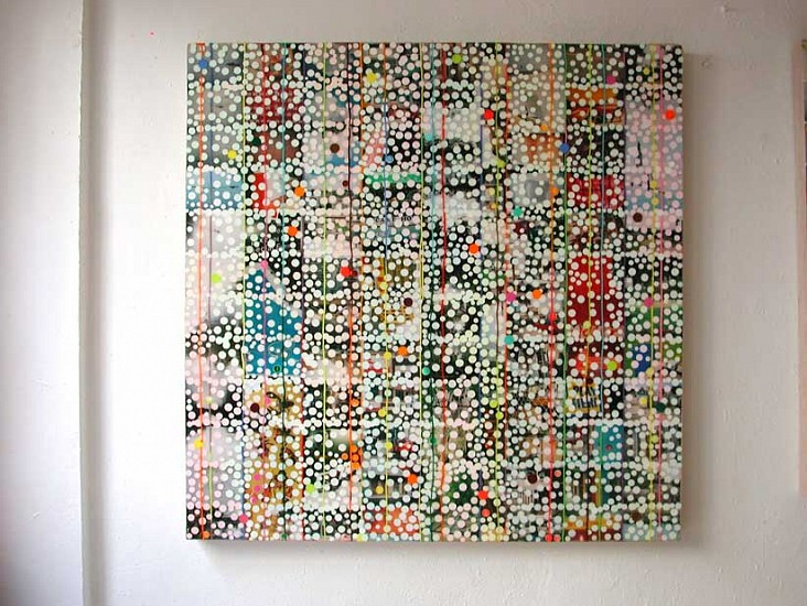 Markus Linnenbrink, Aistobasbistoc (Snoop Alligator) 2005, Encaustic, pigments and photos on wood