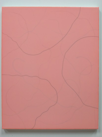 Jerome Powers, Untitled (X-03241) 2003, Elmer's glue, horse hair and acrylic on canvas
