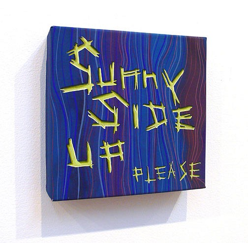 Steve DeFrank, Sunny Side Up Please 2009, Casein on panel