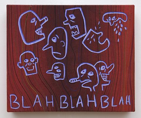 Steve DeFrank, Blah, Blah, Blah 2011, Casein on paper
