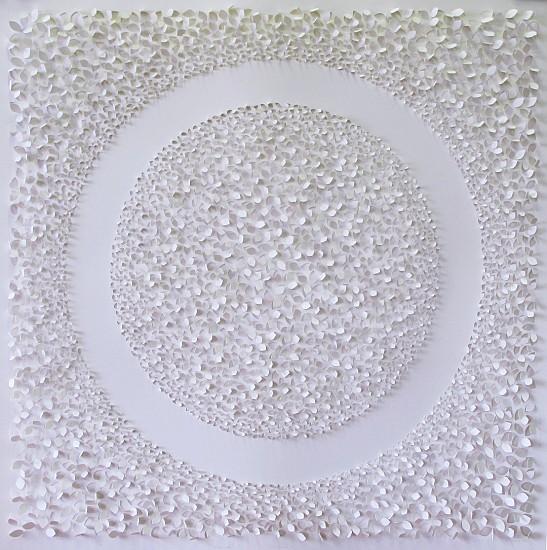 Jaq Belcher, Emergence 2014, Hand-cut paper, 6,046 cuts