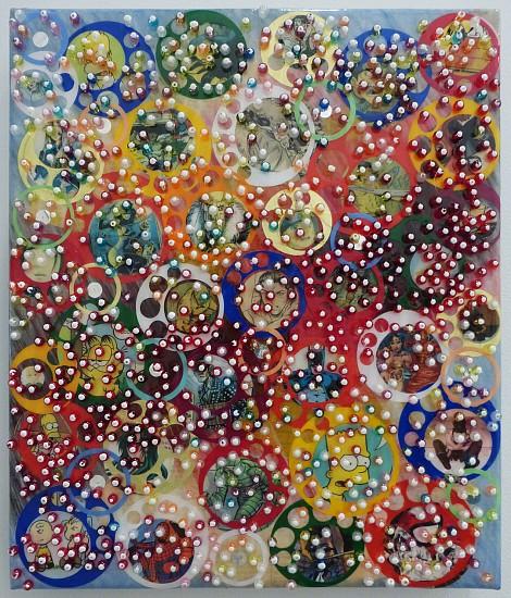 Nobu Fukui, Leap 2013, Mixed media on canvas mounted on panel