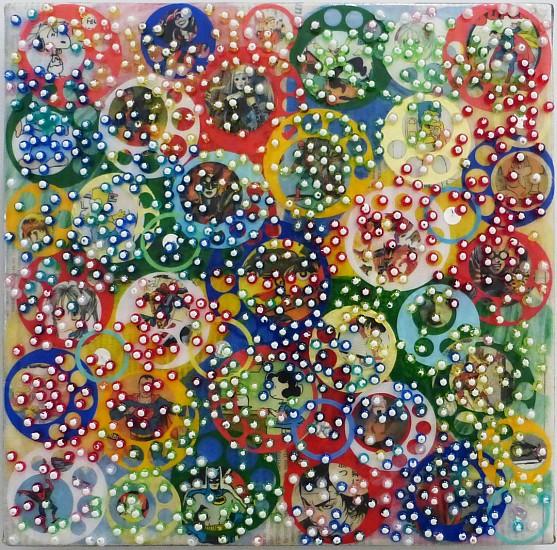 Nobu Fukui, Visions 2013, Mixed media on canvas mounted on panel