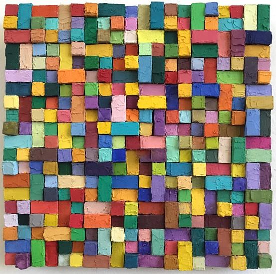 Carlos Estrada-Vega, Jacinta 2015, Wax, limestone dust, oil, olepasto and pigments on wood