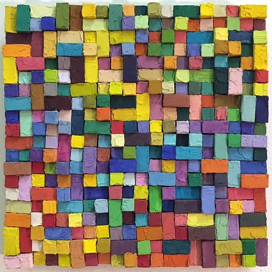 Carlos Estrada-Vega, Jimena 2015, Wax, limestone dust, oil, olepasto and pigments on wood
