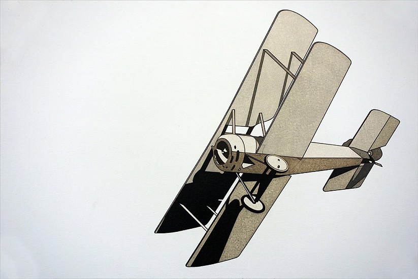 William Steiger, Aeroplane 2015, Oil on linen