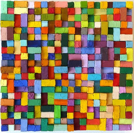 Carlos Estrada-Vega, Jordana 2015, Wax, limestone dust, oil, olepasto and pigments on wood