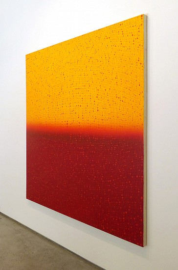 Teo González, Large Arch/Horizon Painting 1 2016, Acrylic on canvas over panel