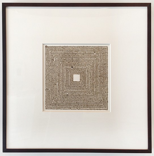 Meg Hitchcock, Chanting the Square Deific (a poem by Walt Whitman) 2014, Cut paper from the Bible