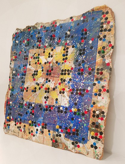 Nobu Fukui, Feast of Prokofiev 2003, Beads and mixed media on cardboard