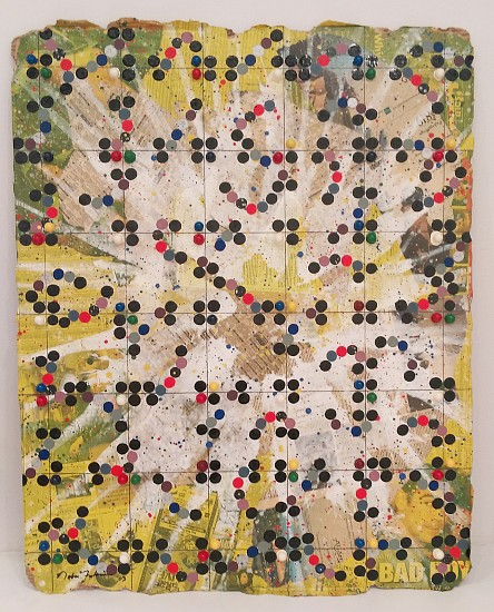 Nobu Fukui, Bad Boy 2003, Beads and mixed media on cardboard