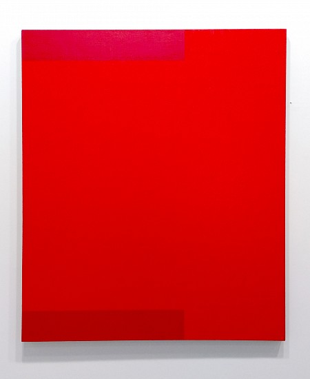 Frank Badur, Untitled (Red) 1994, Oil and alkyd on linen